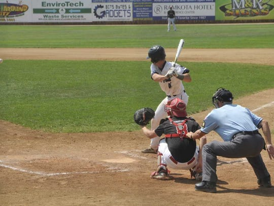 Nick Kemper bats for East on Thursday at the state