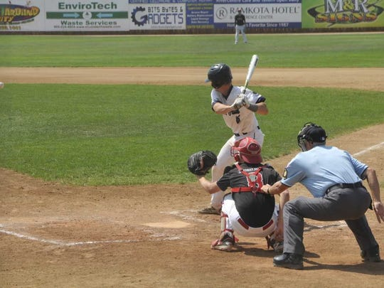 Nick Kemper bats for East on Thursday at the state tournament