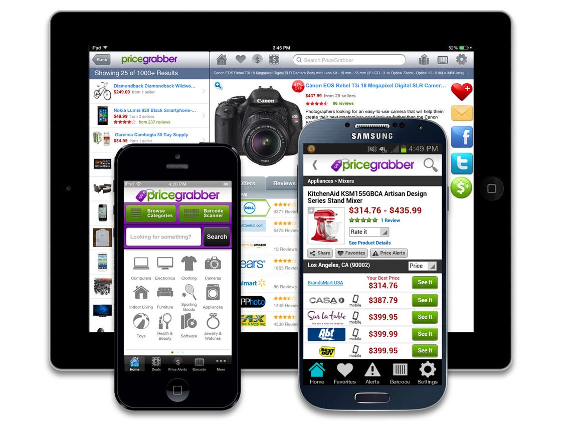 The Pricegrabber app.