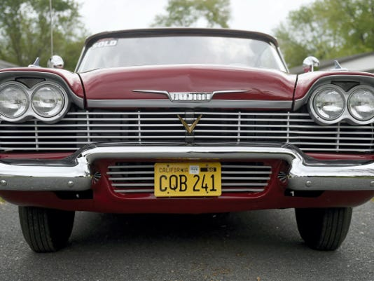 Christine now has a Lebanon County connection. The famed 1958 Plymouth Fury that starred in John Carpenter's movie 'Chirstine', adapted from Stephen King's book of the same name, came to Kohr's Kustoms, owned by Dennis Kohr of Myerstown, to be worked on, restoring her to her movie glory. The car, owned by Bob Barto, of Rochester, New York, is an original from the 1983 movie. Michael K. Dakota - Lebanon Daily News