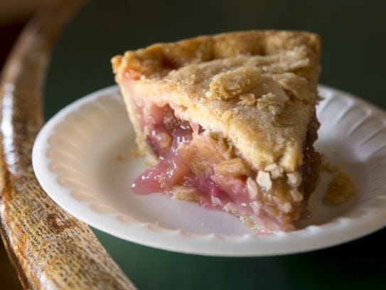 Rhubarb pie is just one of the dishes you can find