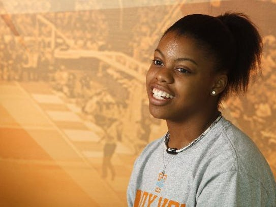 Lauren Avant as a freshman at Tennessee  in  2010.