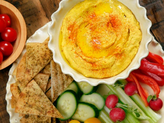 This Jan. 20, 2017 photo shows roasted carrot hummus,