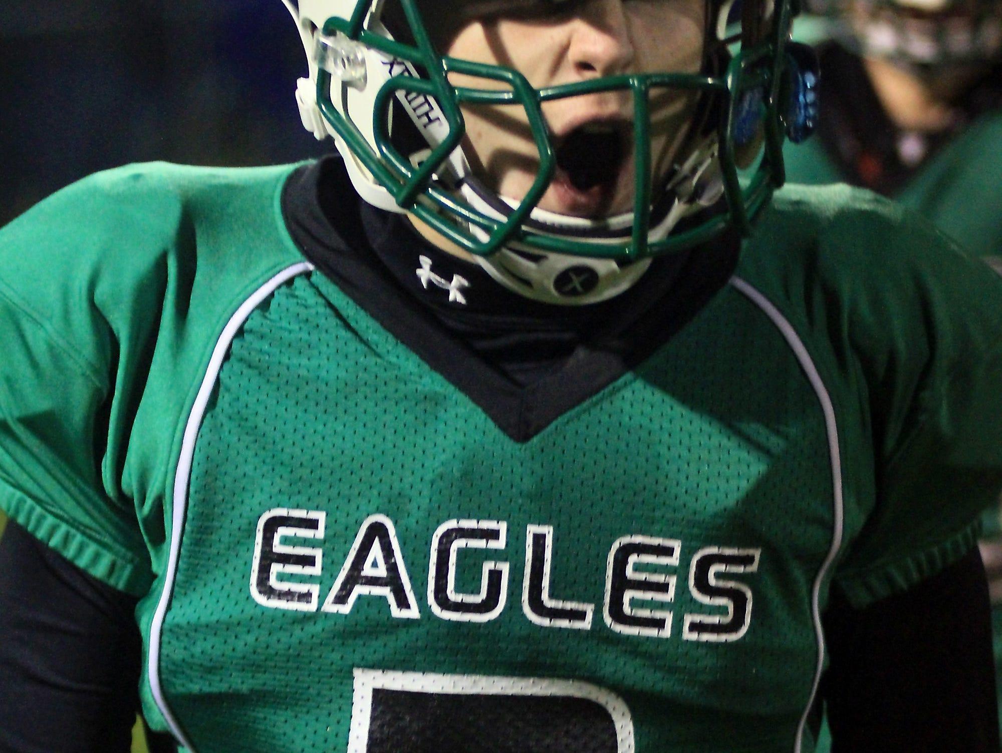 Almond-Bancroft junior quarterback Wyatt Richtmyre has been instrumental in the Eagles unbeaten run through Level 2 of the Division 7 playoffs.