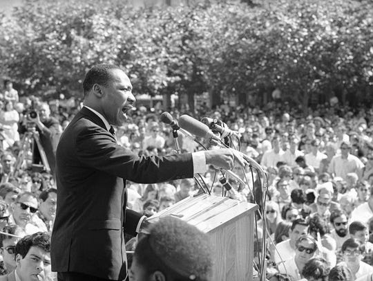 FILE - In this May 17, 1967 file photo, Dr. Martin