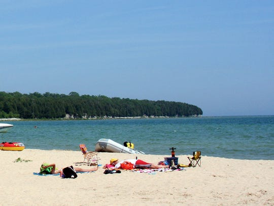 The beach at Rock Island State Park, near Door County's Washington Island, is one of Wisconsin's most remote because most people need two ferry rides to get there.
