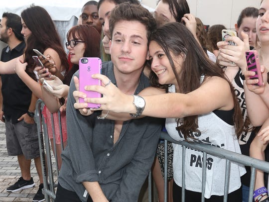 Charlie Puth attends Y100's Jingle Ball 2015 Daytime