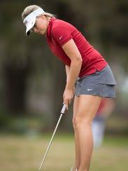 Senior golfer Matilda Castren  has represented the