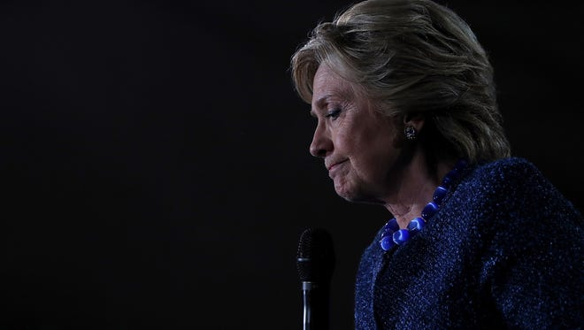 DES MOINES, IA - OCTOBER 28:  Democratic presidential nominee former Secretary of State Hillary Clinton speaks during a campaign rally at Roosevelt High School on October 28, 2016 in Des Moines, Iowa. With less than two weeks to go until election day, Hillary Clinton is campaigning in Iowa.  (Photo by Justin Sullivan/Getty Images)
