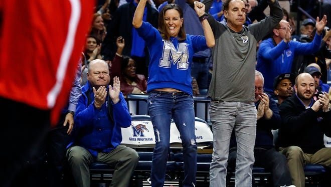 Memphis fans cheer during second half action against Houston at the FedExForum in Memphis Tenn., Thursday, February 22, 2018.