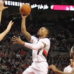 Damian Lillard hit seven 3s on his way to a game-high