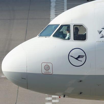 A Lufthansa aircraft at Berlin's Tegel Airport on Oct.