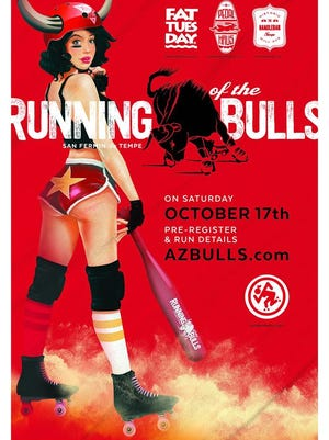 The inaugural Running of the Bulls takes place on Saturday, Oct. 17 in downtown Tempe.