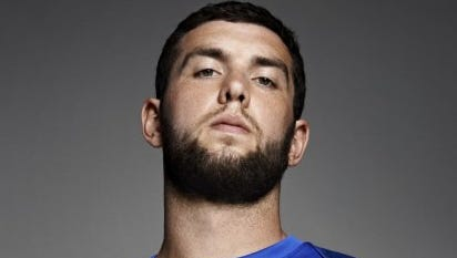Indianapolis Colts quarterback Andrew Luck in a U.S. Men's National Team jersey.