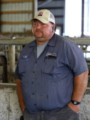 Chuck Ripp, one of the owners of Ripp's Dairy Valley farm, in Dane, Wis., on Sept 12, 2017. Eleven of the 12 non-family members who work on the farm are Hispanic immigrants. ÒWe need to get a program so we can get these guys some kind of paperwork so INS (immigration enforcement) can't just take them away if they get pulled over or something. They should just be left alone and have the freedom to be here,Ó he says.