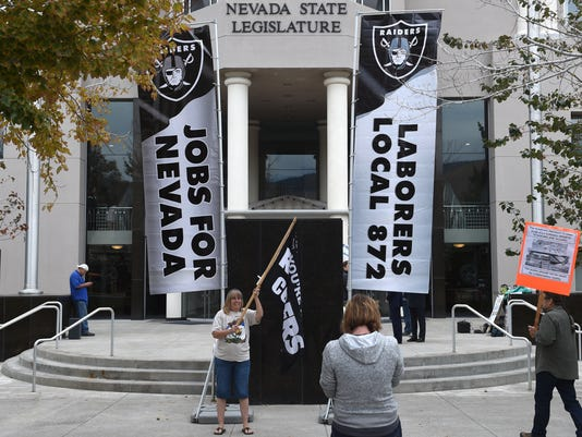 raiders stadium deal passes legislature sandoval to sign on monday