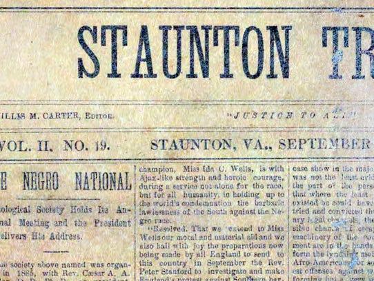 The Staunton Tribune, edited by Willis McGlascoe Carter.