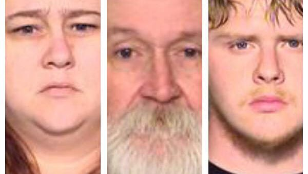 Opal Williams, from left, Ricky King and Charles Lehman have been arrested on charges of murder.