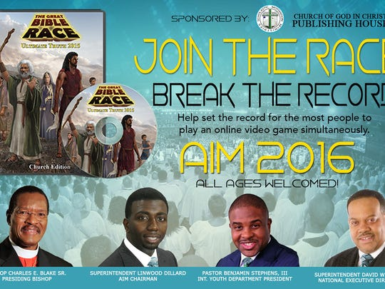 Flyer for the Great Bible Race 2016.