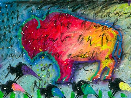 Michigan artist Tim Yanke considers the bison to be