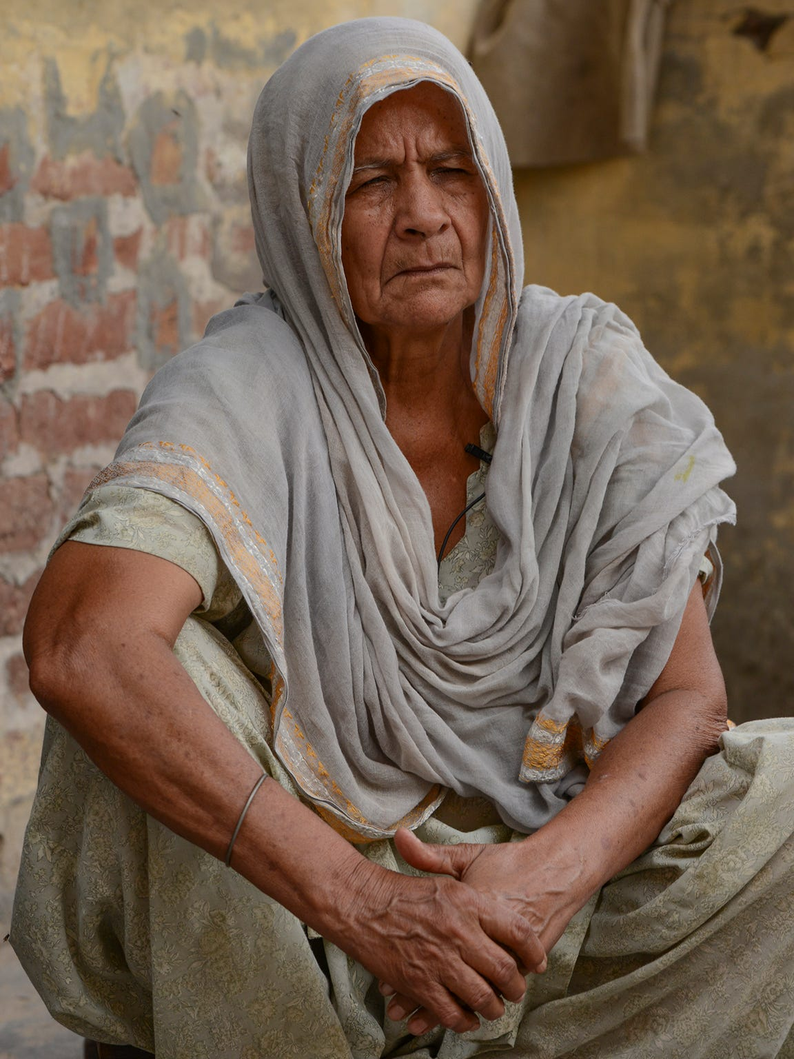 "Paraminder Kaur reflects on the declining levels of groundwater over her lifetime in India's Punjab state. She says when she was young, she could dig into the soil with her hands and find water. ""Now I worry about the next generation. Where will they get their water?"""