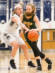 West York's Catie McCarty (33), tries to steal the