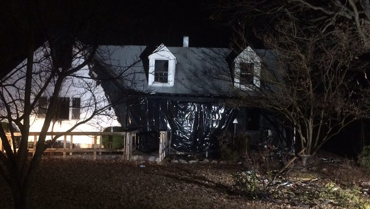 Aftermath of fatal fire at a home on Barbara Street
