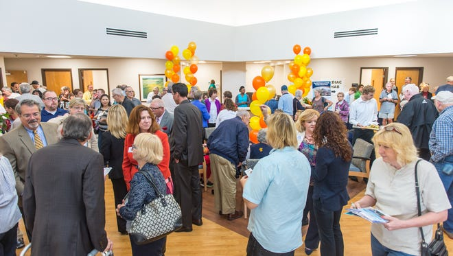The Delmarva Health Pavilion - Ocean Pines is toured during the Ribbon Cutting and Grand Opening on Wednesday afternoon in Ocean Pines.