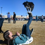 Romy Dupal-Demers and Super Dog Lily perform a trick during a 2014 demonstration at the Promenade Shops at Centerra in Loveland. The annual Paws on the Promenade event at Centerra is approaching.