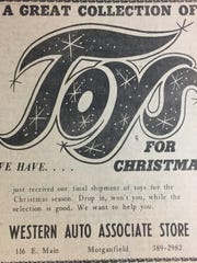 A Christmas ad for Western Auto Associate Store from December 5th, 1973.