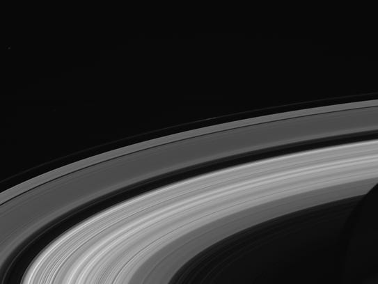 The final Saturn ringscape photographed by Cassini.