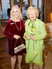 """Arlette Gordon (left) and Elizabeth Bowden attend the elegant kickoff to the Cancer Alliance of Help & Hope's signature fundraiser, """"Shop The Day Away Luncheon,"""" on Feb. 1."""
