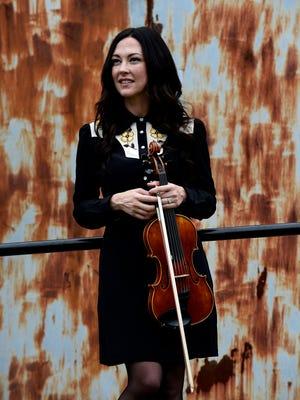 Americana singer-songwriter and fiddler, Amanda Shires on Tuesday, August 23, 2016, in Nashville, Tenn.