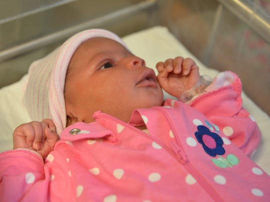 Ja-Nya Wesley is the first baby born at the University