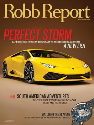 The August 2014 cover of the Robb Report