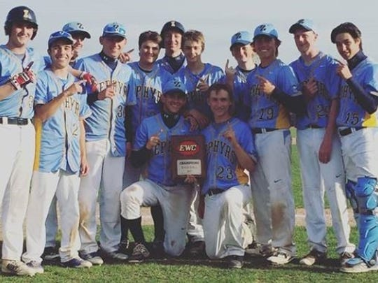The St. Mary Catholic High School Baseball Team won the Eastern Wisconsin Conference Championship May 10. This is their fifth straight Conference Championship.