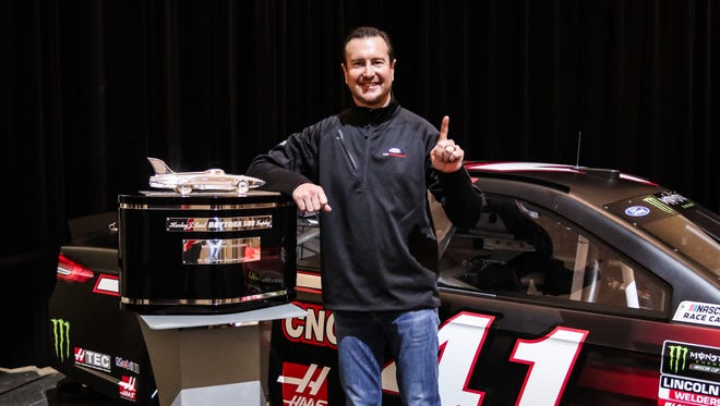 Kurt Busch was honored Wednesday, March 29, 2017 during Ford's Daytona celebration in Dearborn.