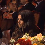 Danica Patrick looks displeased at 2013 NASCAR Sprint Cup Awards Banquet.