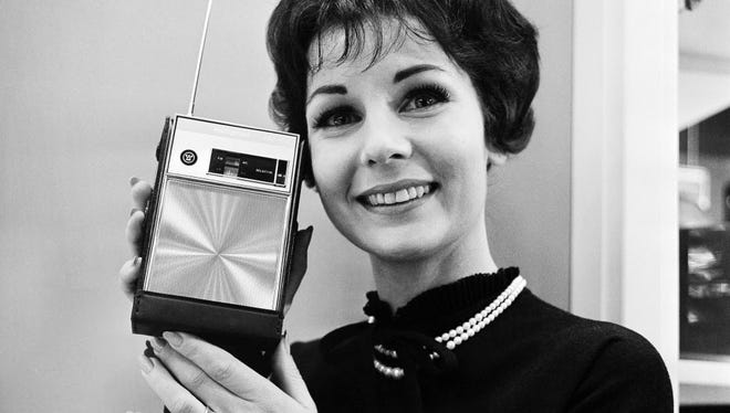 Blast from the past: a transistor radio.