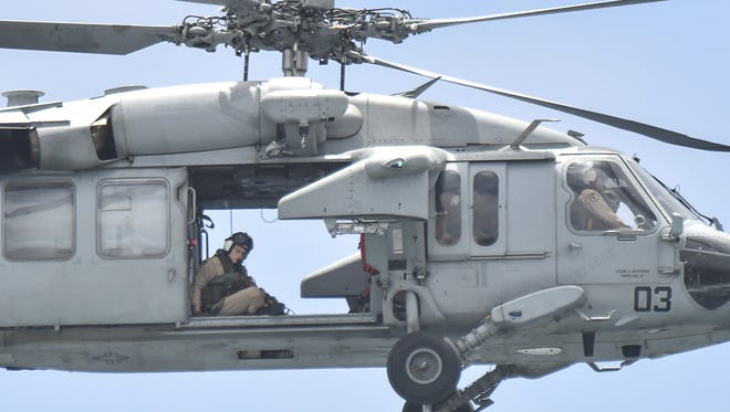A Navy rescue helicopter is shown in this file photo.