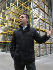 Glacier Transit and Storage President Kyle Nothem explains the explains his newest facility Tuesday February 23, 2016 in Plymouth.  Nothem said the newest facility is state-of-the-art.