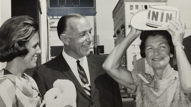 Governor Paul Fannin  and his wife Elma, right in the 1960s. Fannin served three terms being elected in 1958, 60 and 62. He also was elected to Barry Goldwater's senate seat when Goldwater decided against running for reelection so he could run for President.