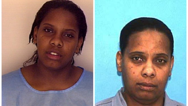 Lanadieal Ashe pictured at age 17, left, and at age 38.
