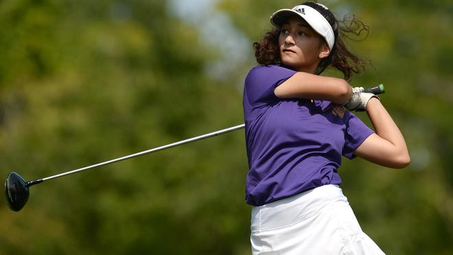 Erie High's Elizabeth D'Andrea competes in a District 10 match Wednesday at JC Martin Golf Course in Erie.