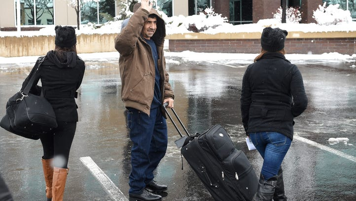 Reno man says goodbye to supporters before deportation flight to Mexico