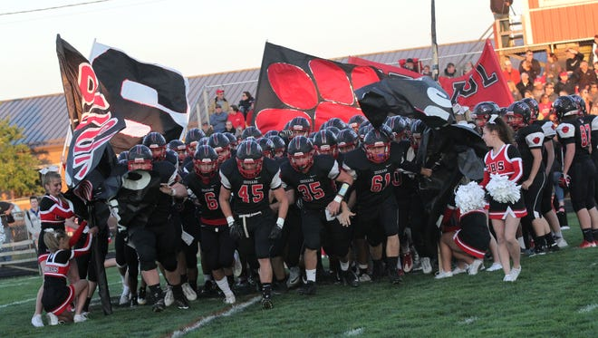 The Crestview varsity football team was host to  Norwalk St. Paul on Friday night.