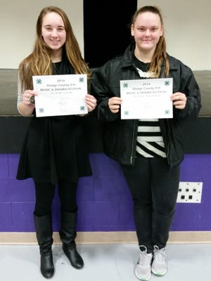 Top Award recipients were Leah Weninger with a vocal solo and Daisy Parrish with an instrumental solo.