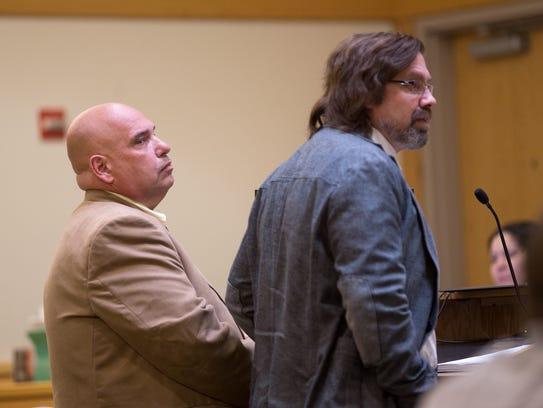 Daniel Goldberg, left, and his attonery Eric Morrow