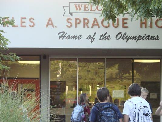 FIRST DAY OF SCHOOL SPRAGUE HIGH SCHOOL