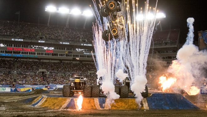 Expect plenty of action and noise at Monster Jam in Glendale.